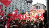 PRIMERAS MANIFESTACIONES CONTRA EL GOBIERNOGRIEGO