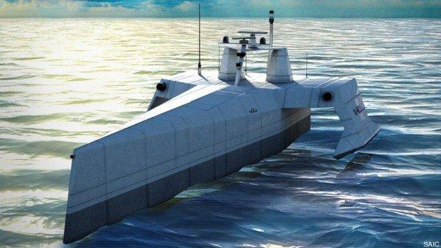 actuv - Primeras pruebas de un barco de guerra robot de EEUU