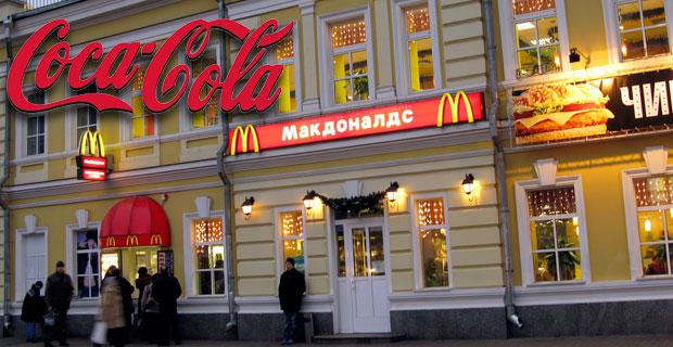 UN LEGISLADOR RUSO PIDE A COCA-COLA Y A MCDONALD'S QUE SE VAYAN DE RUSIA
