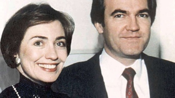 Hillary Clinton y Vince Foster