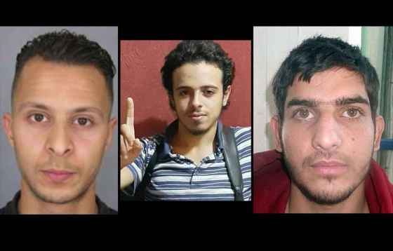 imagen de 3 de los sospechosos: Salah Abdeslam, Bilal Hadfi y Ahmad al-mohammad