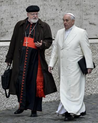 El cardenal O'Malley y el Papa Francisco