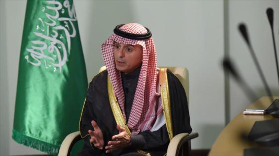 El canciller saudí, Adel al-Yubeir.