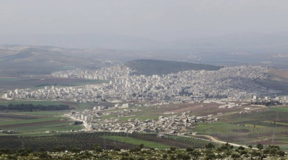Vista de la ciudad de Afrin