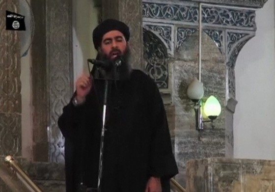 Still image taken from video of a man purported to be the reclusive leader of the militant Islamic State Abu Bakr al-Baghdadi making what would be his first public appearance at a mosque in Mosul
