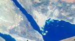Part of the Sinai Peninsula, featuring the Gulf of Suez and the Gulf of Aqaba, were photographed by one of the STS-127 crewmembers aboard the Space Shuttle Endeavour