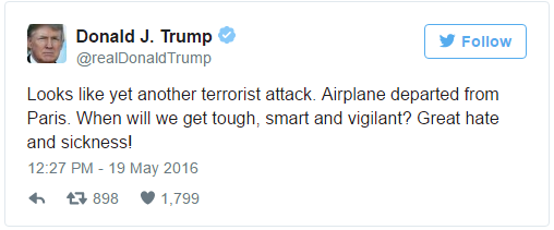 Donald Trump says looks like yet another terrorist attack