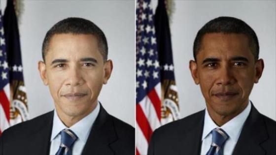 Dos imágenes del presidente de EE.UU., Barack Obama, que han sido manipuladas para una investigación.