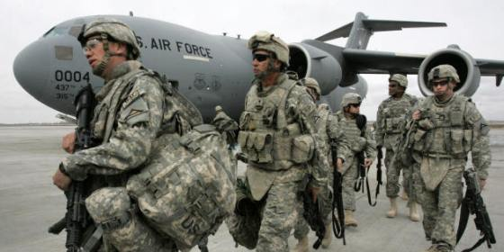 US soldiers arrived from Afghanistan wal