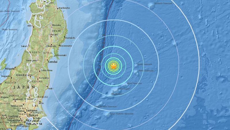 TERREMOTO DE MAGNITUD 6,1 SACUDE COSTA DE JAPÓN A 300 KMS DE FUKUSHIMA